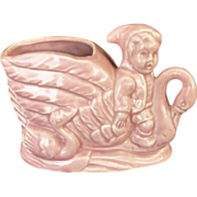 Brush Elf Riding Swan Pink Planter