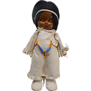 Native American Indian Girl Doll Rattle