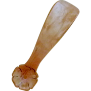 Celluloid Child Shoe Horn with Flower Handle