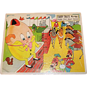 """Vintage Jigsaw Puzzle """"Humpty Dumpty"""" Nursery Rhyme Fairchild Toy # 33"""