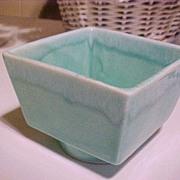 Planter California USA Turquoise Drip Vintage Pottery