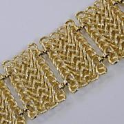 Vintage Gold Toned Wide Chainlink Bracelet