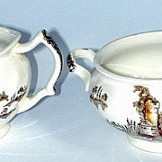 Matching Sugar and Creamer - Johnson Bros - Old Mill Pattern