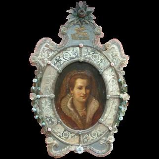 Rare Venetian Glass Painting