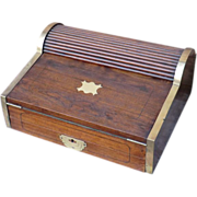19th Century Campaign Writing Box in Camphorwood