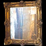 19thC. French Mirror in original Papier-Maché Frame