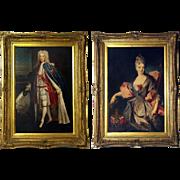 Pair of Original Framed 'Oleographs' of Scottish 'Jacobite' Royalty.