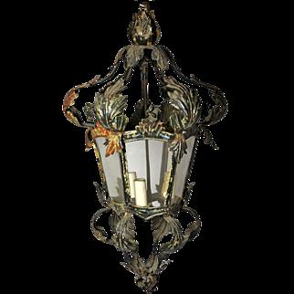 Delicate 6-Sided Metal Lantern