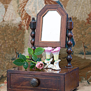 Rare Antique Small French Toilette Table for tiny fashion doll