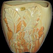 Royal Haeger by Royal Hickman Tropical Leaf Vase W/ Original Sticker