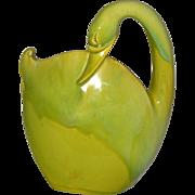 Royal Hickman Florida Large Chartreuse Swan Book Piece Vase
