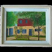 Vintage Arts & Crafts Landscape Oil on Board
