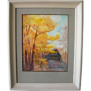 Landscape Watercolor signed George Weisenburg