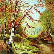 Landscape Watercolor by Boston Artist Charles Gerald Griffin
