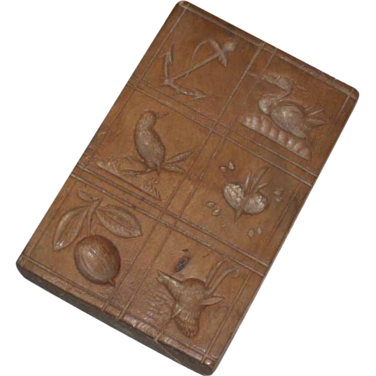 Carved Wooden Springerle Cookie Mold - 19th C