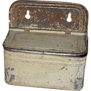 c. 1880 Painted Tin Match Box - Holder