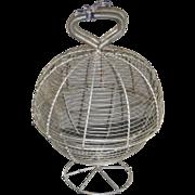c. 1900 Wireware Salad Washer / Dryer - Egg Basket