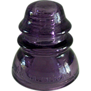 Vintage Purple Glass Insulator Whitall Tatum Co. No. 1