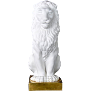 Vintage Porcelain Mottahedeh Lion on a Gilt Base Mottahedeh Italy