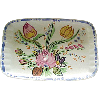 03 - Blue Ridge Pottery Demi Tray - Nove Rose
