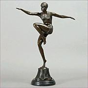 Ferdinand Preiss Art Deco Bronze Sculpture 'Con Brio'