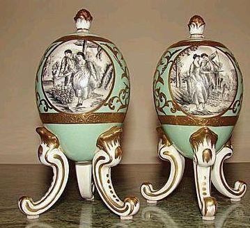 Porcelain Eggs  Marked Sèvres