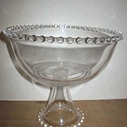 Heavy Imperial Candlewick Glass Compote