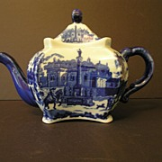 Blue and White Victoria Ware Ironstone Teapot
