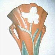 Roseville Pottery Wall Pocket - Iris 1284-8