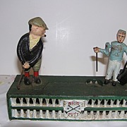 Cast Iron Golfer Mechanical Bank