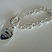 Sterling Silver Bracelet with 'Tiffany' Heart Charm