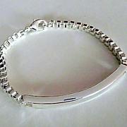 Sterling Silver Venetian Link and Bar Bracelet