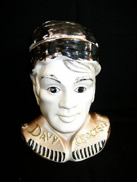 McCoy Pottery Davy Crockett Hand Painted Cookie Jar