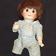 Bisque Kestner 221 Character Googly Eyes Doll Signed Composition Body