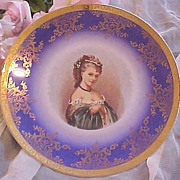 Royal Bayreuth Bavarian Portrait Plate