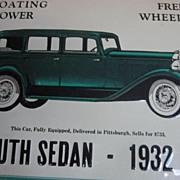 Metal Advertising Sign 1932 Plymouth Sedan - AAA Sign Company