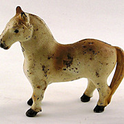 Cast Iron White Horse Still Bank