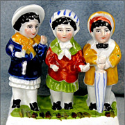 England Three Young Girls Fairing Figurine
