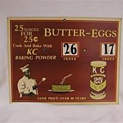 Paper KC Baking Powder Advertising Display. Black Americana