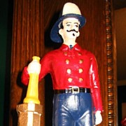 Cast Iron Fireman Bank