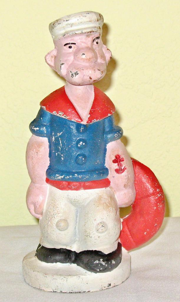 Vintage Cast Iron Popeye Bank