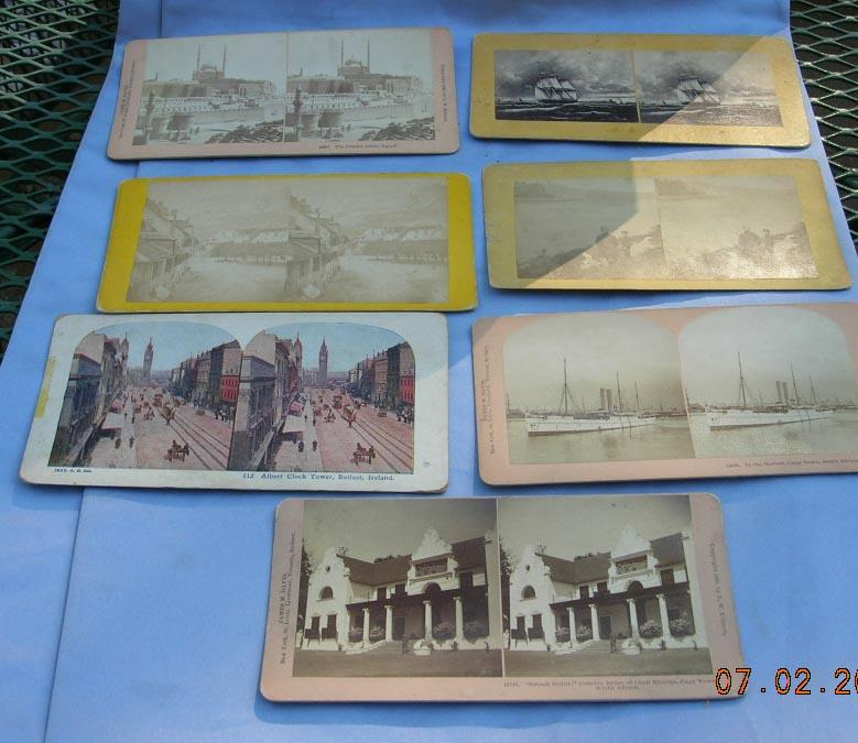 Stereocards, Group of 7, Views of Belfast, Ireland, Cape Town, South Africa, and Cairo , Egypt