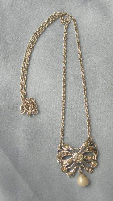 Jargoon and Pearl Pendant, Victorian