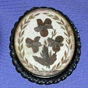 Hair Brooch, Pansies, Victorian
