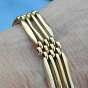 Gate or Padlock Bracelet, 9 carat, Victorian