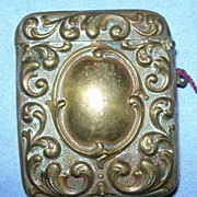 Brass Match Safe, Vesta