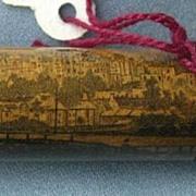 Mauchline Needle Case, Windsor Castle, Victorian