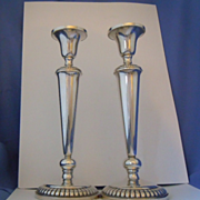 Pair of sterling silver tall candlesticks Revere silver co.