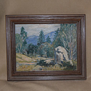 California artist Georgia Bemis impressionist landscape oil