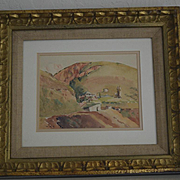 Foothills of California watercolor by W. R. Cameron